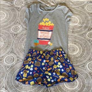 Girls graphic 2pc pajama set